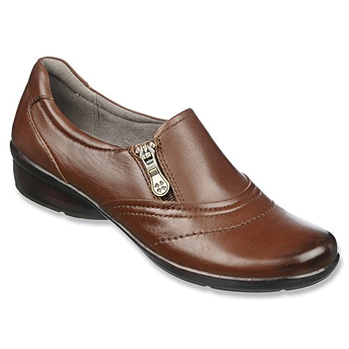 Women's Bean Coffee Clarissa Leather Flats Loafer Naturalizer OwqdHO