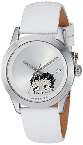 Invicta Women's 'Character Collection' Automatic Stainless Steel and Leather Casual Watch, Color:White (Model: 24494)