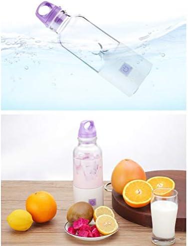 LI_HUA Juicer Cup Portable Blender Mini Smoothie Maker Máquina mezcladora de Alimentos para bebés y Frutas al Aire Libre USB Recargable 4 Cuchillas 500 ml BPA Gratis