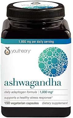 Youtheory Ashwagandha 1000mg (150 Capsules)