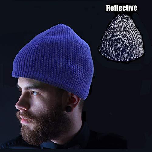 Oeyliz Beanie for Men Women Running Hat Reflective Beanie High Visibility  Safety Winter Warm Hat One Size b4928dd7ce79