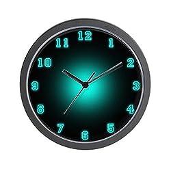 CafePress Blue Neon Face Unique Decorative 10 Wall Clock