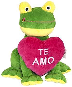 Peluches Cel Rana corazón flor, grande, color verde (MAE 3220)