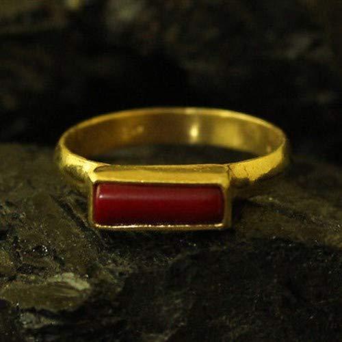 Ancient Design Handmade Designer Wedding Band Coral Ring 22K Gold over 925K Sterling Silver