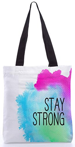 Snoogg Stay Strong 13.5 X 15 Shopping Shopping Bag Realizzato In Tela Di Poliestere
