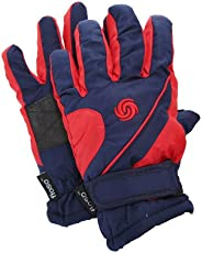 FLOSO® Kids/Childrens Big Boys Extra Warm Thermal Padded Ski Gloves with Palm Grip