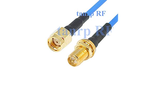 RG405 Semi Flexible RP-SMA male to RP-SMA female RF Blue LOW LOSS 3G 4G Cable
