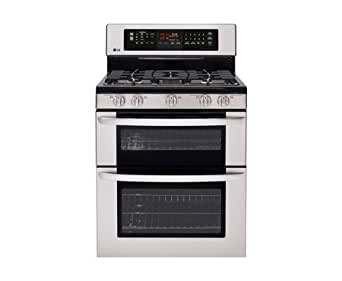 Lg LDG3037ST: 6.1 cu. ft. Capacity Gas Double Oven Range with Infrared Grill and EasyClean