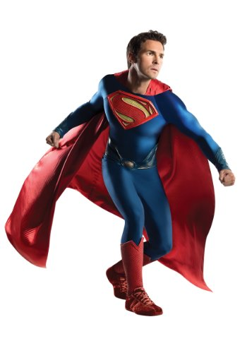 Rubie's Costume Co Men's Superman Man Of Steel Grand Heritage Costume, Multi, One (Red Superman Boots)