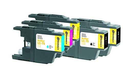 Dataproducts Ink Refill (Dataproducts Remanufactured 5-Pack-Inkjet Cartridges for Brother LC75-2 Black, Cyan, Magenta, Yellow)