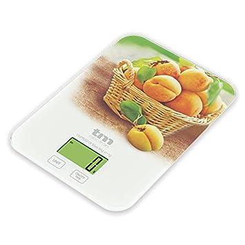 Tm Electron TMPBS018 Báscula Digital de Cocina ultradelgada con diseño de melocotón, Pantalla LCD de 24 mm: Amazon.es: Hogar