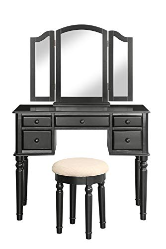 Merax. Vanity Mirror and Stool Make-up Dressing Table Set