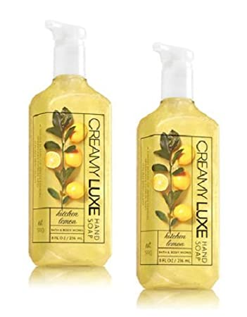 Bath And Body Works 2 Pack Kitchen Lemon Creamy Luxe Hand Soap 8 Ounce