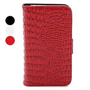 Buy Leather purse type protection, for the iPhone 4/4 crocodile shape design , Red
