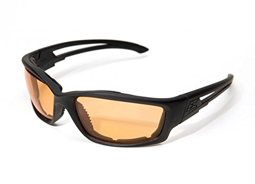 Edge Eyewear Blade Runner Glasses, Matte Black Frame with Gasket/Tiger's Eye Vapor Shield Lens