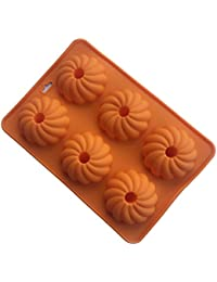 Purchase Always Your Chef 4-Cavity Reusable Silicone Pumpkin Flowers Cupcake Molds Baking Cups Muffin Pans, Random Colors occupation