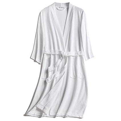 Mangeoo Pijamas para Hombres, Primavera Y Verano, Mangas Cortas para Hombres, Pijamas Largos