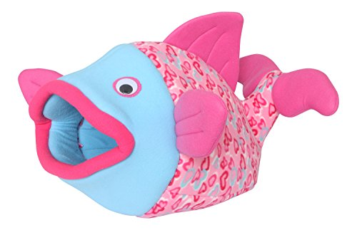 Cat-ferret-rabbit -Small Dog Bed-pet Cave-passionate Pink Hearts Love Fish Shaped Pet Bed
