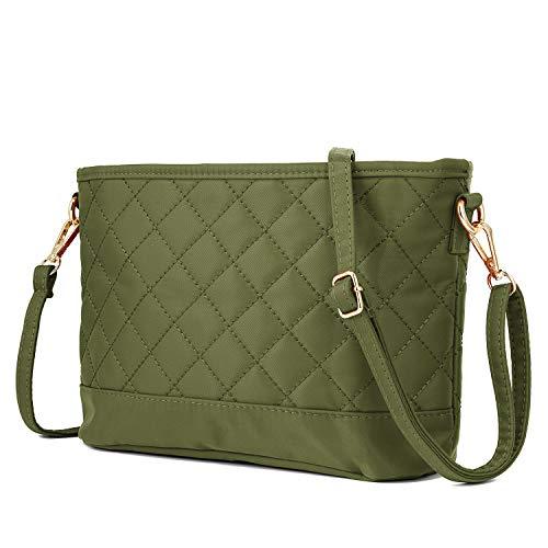 WOZEAH Women's ultralight New Fashion Crossbody Bag Shoulder Bag Hobo Bag Casual Nylon Purse Women's New Design Style Travel Handbag (1 green)