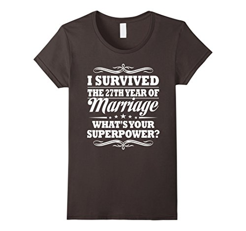 Womens 27th Wedding Anniversary Gift Ideas For Her/ Him- I Survived Large Asphalt