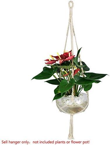 NATFUR Handmade Crude Cotton Pot Holder SimpleTassel Hanging Basket Flower Hanger 762  Tassel. 1 pc. M-91cm / NATFUR Handmade Crude Cotton Pot Holder SimpleTassel Hanging Basket Flower Hanger 762  Tassel. 1 pc. M-91cm