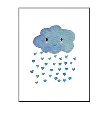 Hochwertiger Leinwanddruck mit süßer Wolke als Motiv A4 - Kunstdruck ...