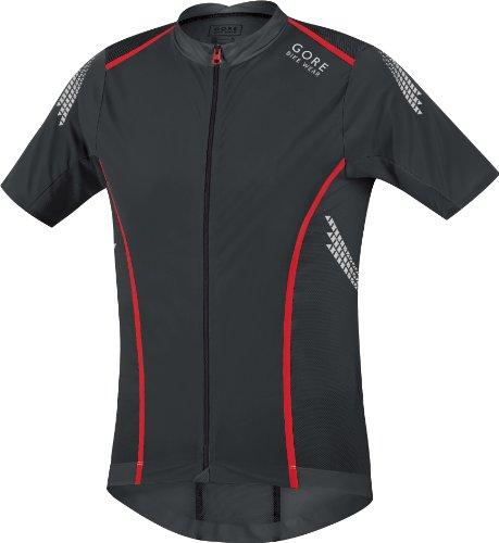 Gore Bike Wear Men's Xenon Summer Jersey, Black/Red, (Gore Bike Wear Mesh Jersey)
