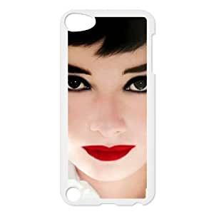 Audrey Hepburn Customized Cover Case with Hard Shell Protection for Ipod Touch 5 Case lxa#327163