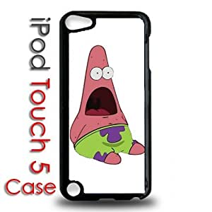 IPod 5 Touch Black Plastic Case - Surprised Patrick Funny