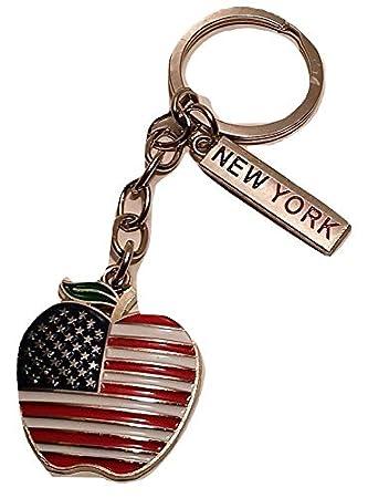 Amazon.com: NY Souvenirs - Llavero con diseño de la bandera ...