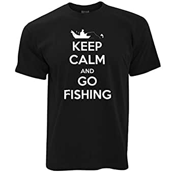 Keep calm and go fishing angler fisherman love for Fishing shirts that keep you cool