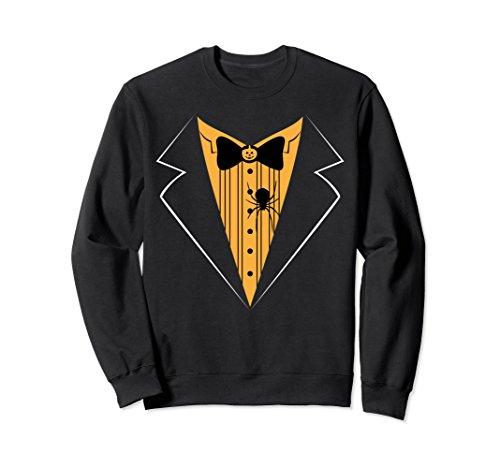 Tux Sweatshirt (Unisex Halloween Tux Sweatshirt, Funny Cute Costume Gift Small Black)