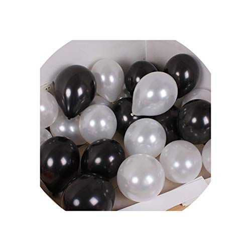 1.5G Mix Colorful Pearl Gold White Latex Balloon Celebration Wedding Decorations,Black -
