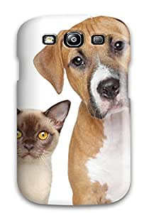 New Arrival Hard Case For Galaxy S3 Cat And Dog