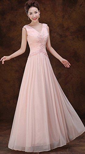 Vimans -  Vestito  - linea ad a - Donna rosa 46