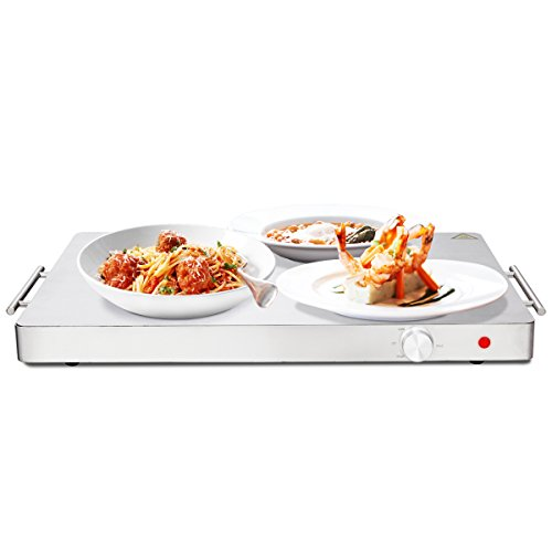 Giantex Electric Warming Tray/Trivet Food Warmer Stainless-Steel Top Deal (Large Image)