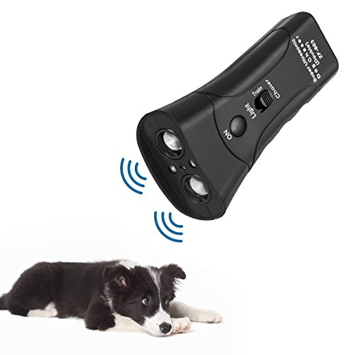 instecho Handheld Dog Repellent, Ultrasonic Infrared Dog Deterrent, Bark Stopper + Good Behavior Dog Training