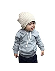 Baby Boys Warm Hat,Doinshop 1pcs Winter Beanie Hat Cap Kids Bonnet Gorros (Beige)