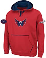 NHL Washington Capitals Men's Sky High Hooded Fleece, Red/Navy