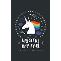 2018-2019 2-Year Pocket Planner; Unicorns are Real: 2-Year Pocket Calendar and Monthly Planner