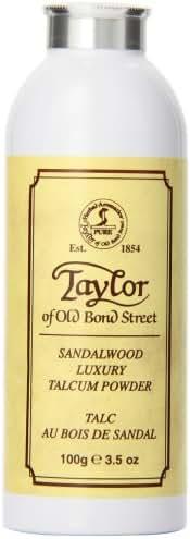 Taylor of Old Bond Street Sandalwood Talcum Powder, 3.5 Ounce