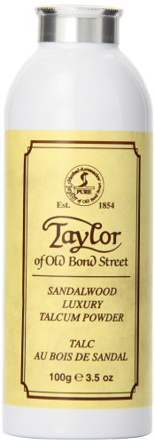 Taylor of Old Bond Street Sandalwood Talcum Powder, 3.5 Ounce