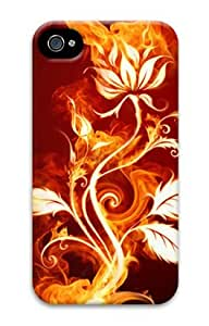 Iphone 4 4s 3D PC Hard Shell Case Flower Fire by Sallylotus