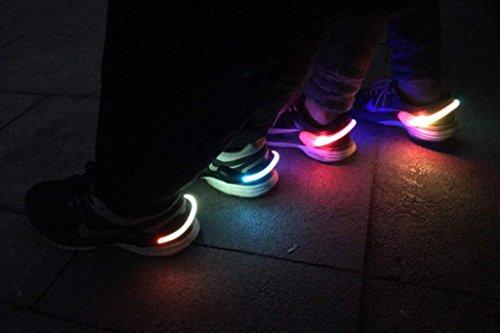Lumière LED H P à Equipment Nuit de Chaussures Clips air Avertissement de Plein White Sports Course Pied pq5x1gwx