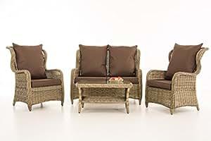 CP043, mobiliario de jardín Asiento Grupo ~ Cojín terrabraun, natural