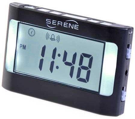 Serene Innovations VA3 Vibrating Travel Alarm Clock (Sonic Alarm Boom Clock)