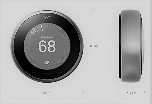 Nest learning thermostat easy temperature control for every room in your house white third - Nest thermostat stylish home temperature control ...