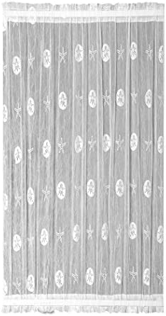 Heritage Lace Sand Dollar Door Panel, 45 by 63-Inch, White