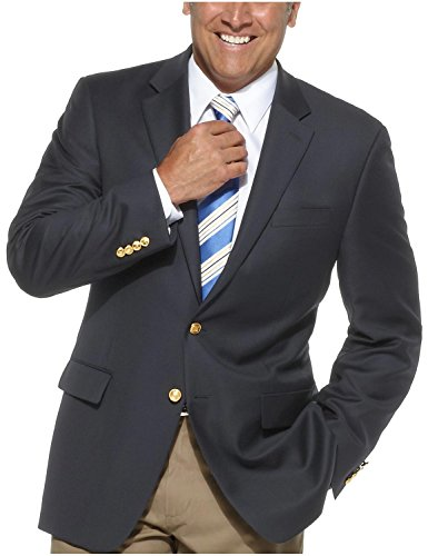 Ralph Lauren Two Button Suit (Lauren Ralph Lauren Total Comfort Wool Jacket Navy Blazer (50REG))