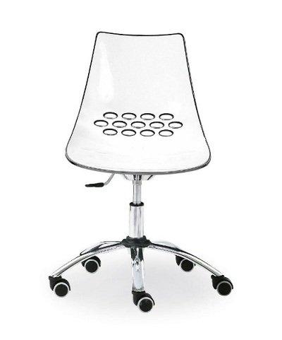 calligaris chaise maison/bureau jam, orange transparent: amazon.fr ... - Chaise De Bureau Transparente